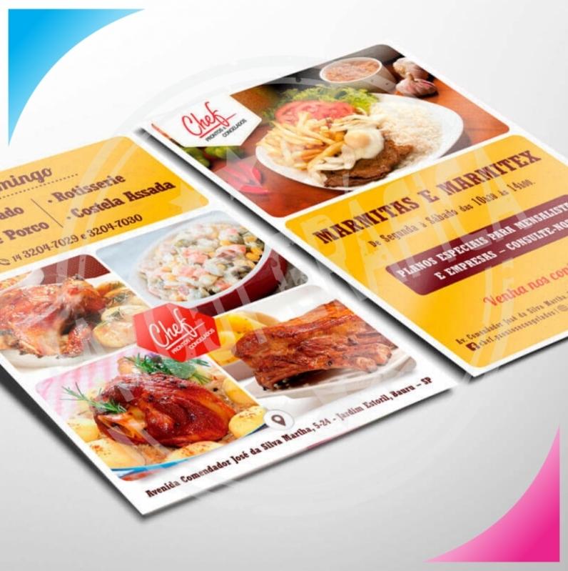 56aa83aeb quanto custa impressão de panfleto para restaurante Rio Pequeno